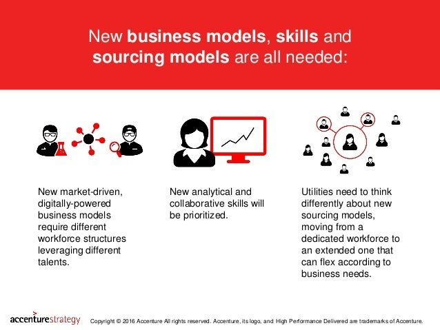 New business models, skills and sourcing models are all needed: Copyright © 2016 Accenture All rights reserved. Accenture,...