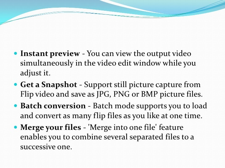 Instant preview - You can view the output video simultaneously in the video edit window while you adjust it.<br />Get a Sn...