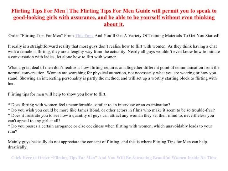 How to flirt tips