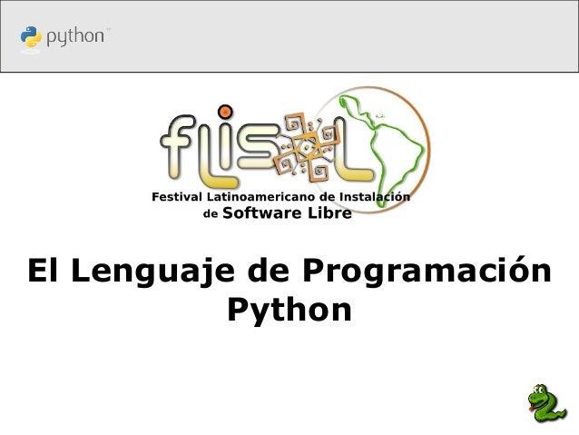 El Lenguaje de ProgramaciónPython