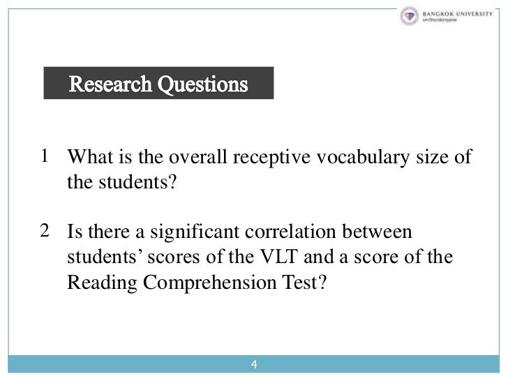 relationship between vocabulary knowledge and reading comprehension