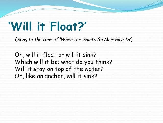 Float or sink slides
