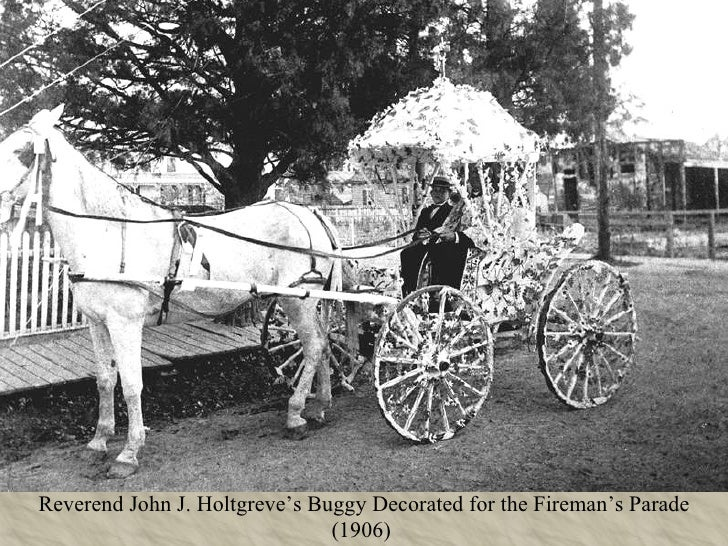 Reverend John J. Holtgreve's Buggy Decorated for the Fireman's Parade (1906)