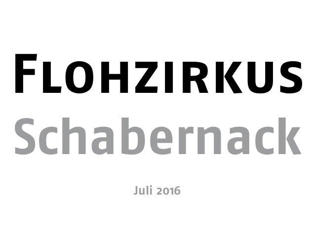 Flohzirkus Schabernack Juli 2016