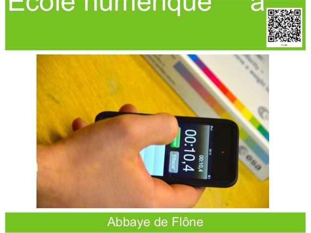 Ecole numérique a Abbaye de Flône
