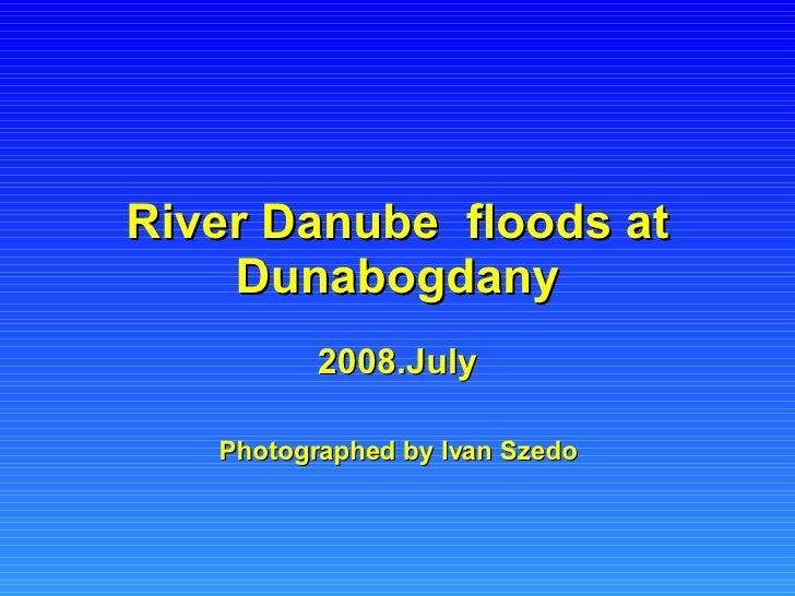 River Danube  floods at Dunabogdany 2008.July Photographed by Ivan Szedo
