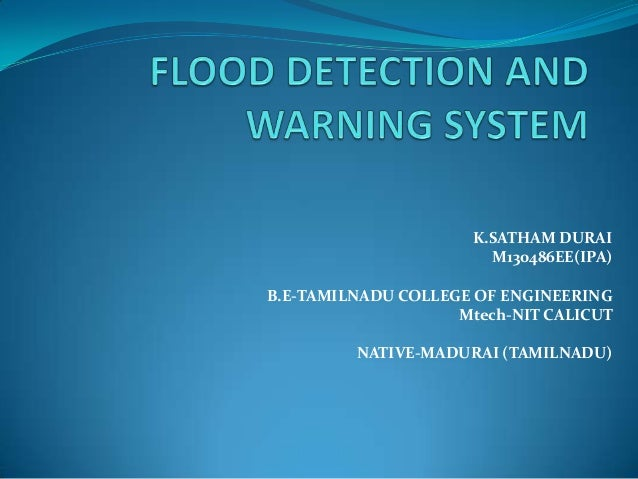 Flood Detection And Warning System