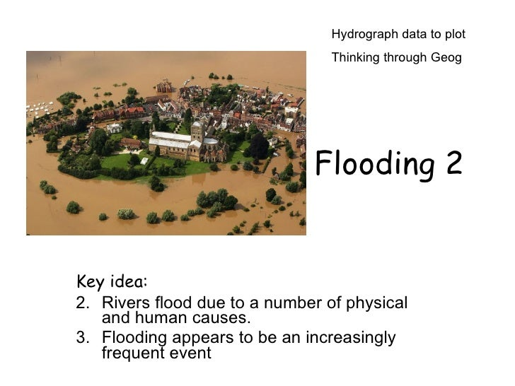 Hydrograph data to plot                                  Thinking through Geog                                   Flooding ...