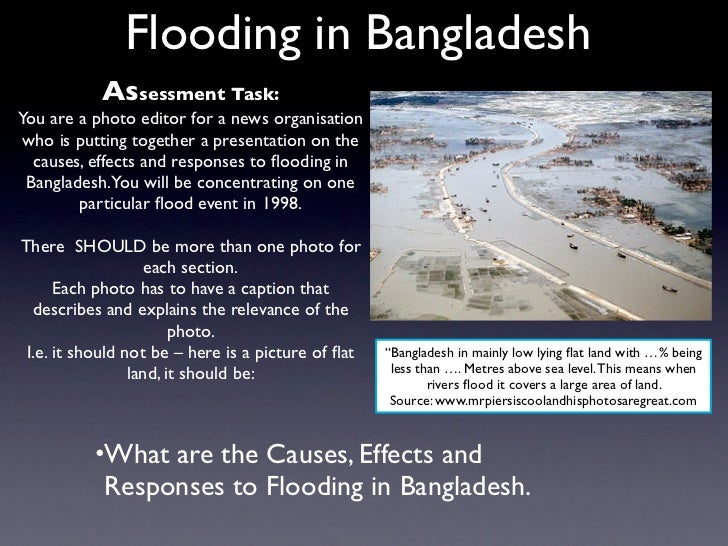 Flooding in Bangladesh           Assessment Task:You are a photo editor for a news organisation who is putting together a ...