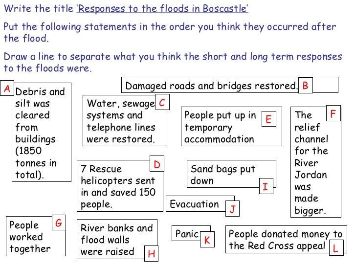 boscastle flood case study responses