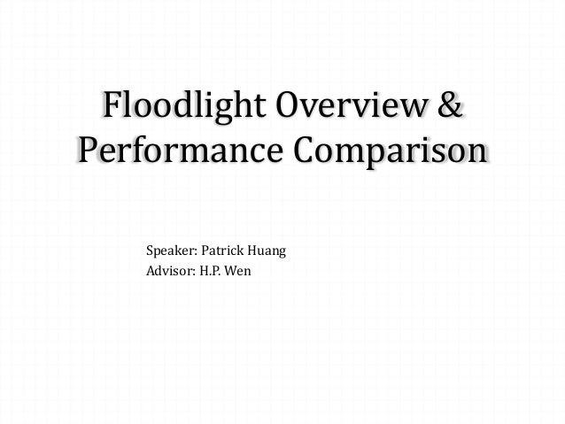 Floodlight Overview & Performance Comparison Speaker: Patrick Huang Advisor: H.P. Wen