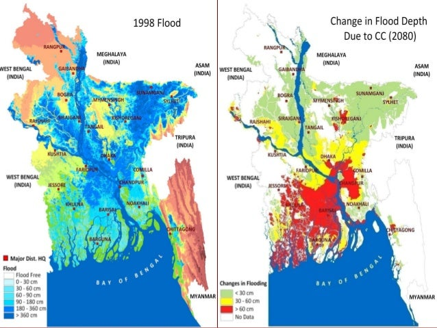 Flood Management In Bangladesh - Global warming flooding map