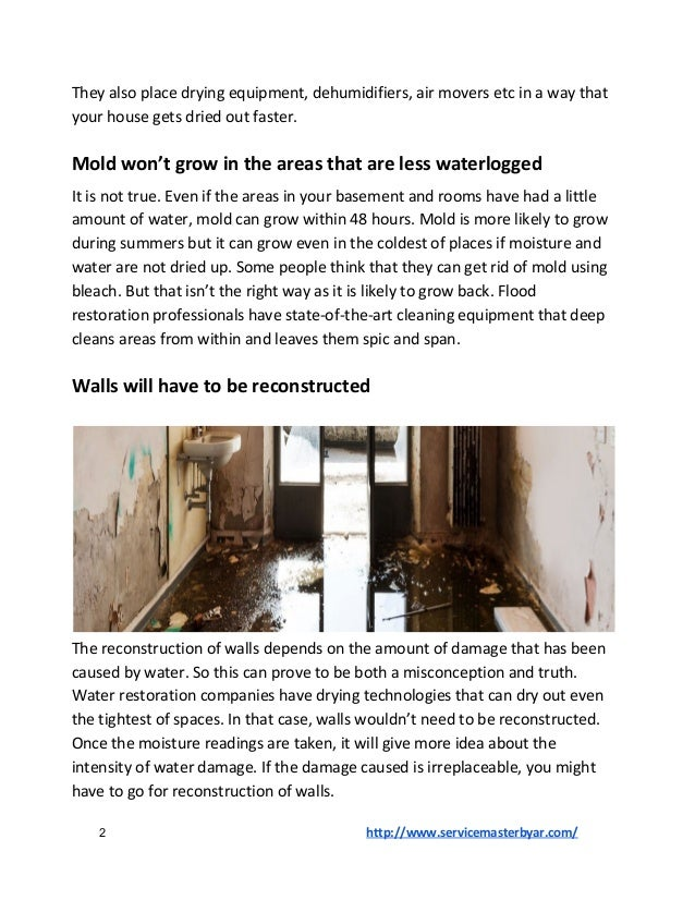 Flood Restoration Services: Misconceptions You Must Get Rid of! Slide 2