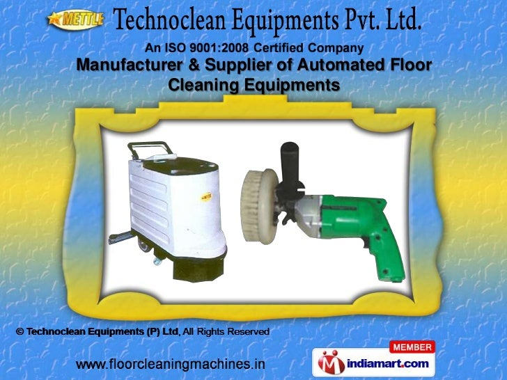 Manufacturer & Supplier of Automated Floor          Cleaning Equipments