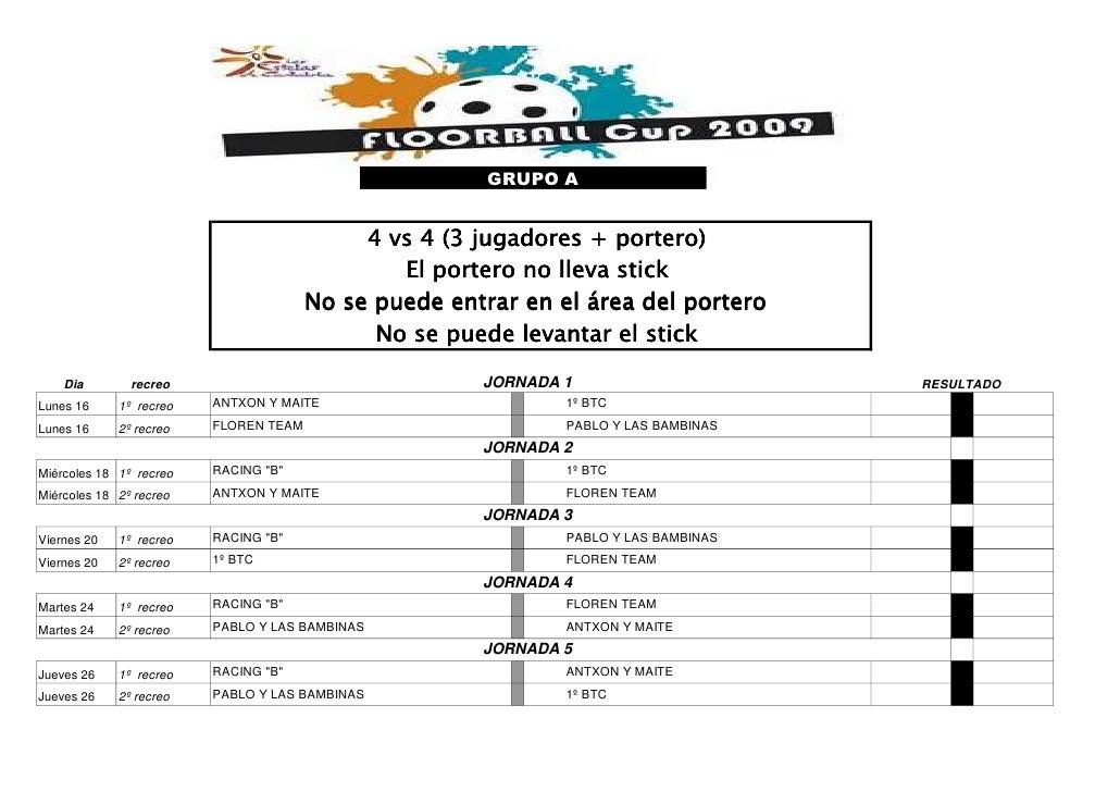 GRUPO A                                                   4 vs 4 (3 jugadores + portero)                                  ...