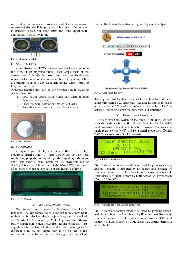 House cleaning robot project pdf