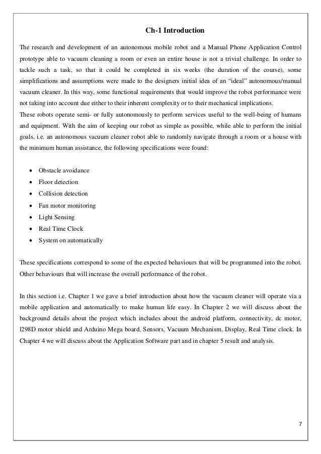 Floor Cleaning Robot Report Vatsal Shah Ec 7th Sem