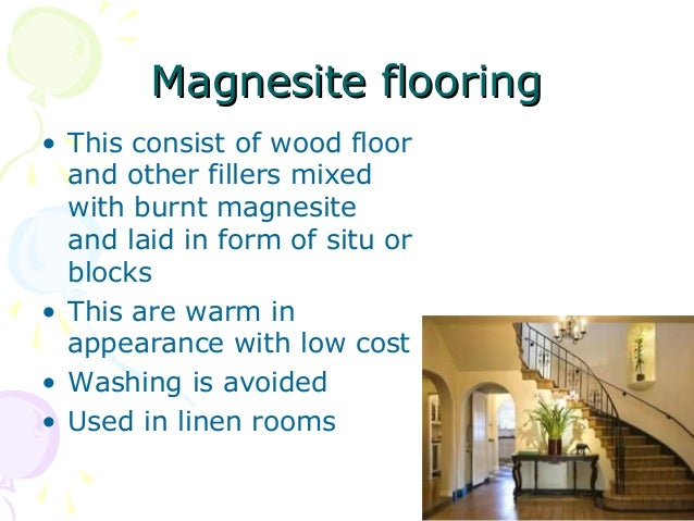 Floor covering in housekeeping magnesite flooringmagnesite flooring tyukafo