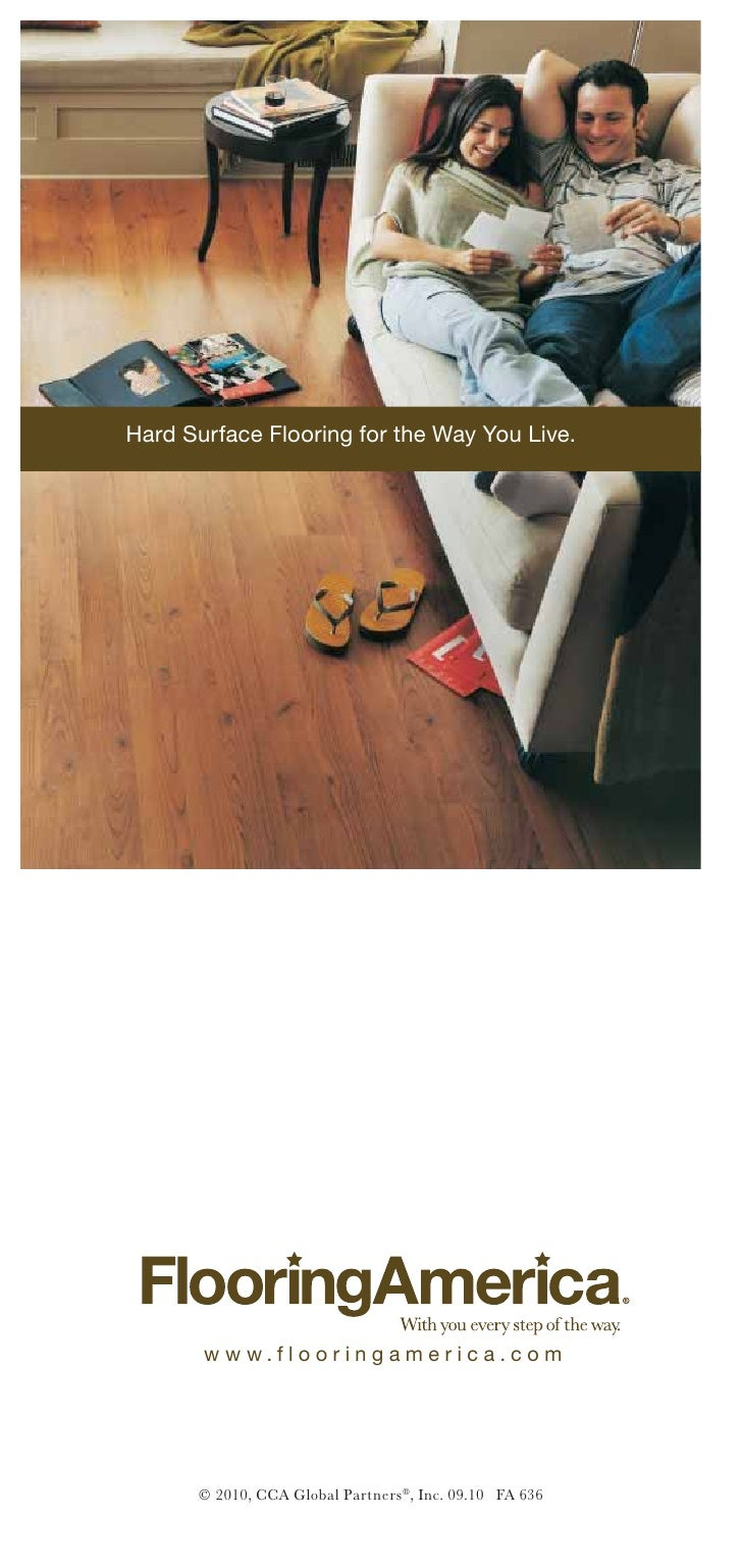 Flooring america hard surfaces for the way you live brochure for Flooring america