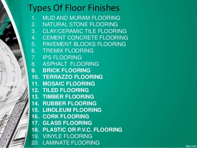 Flooring Only Type Included No Big Discussion Added To It