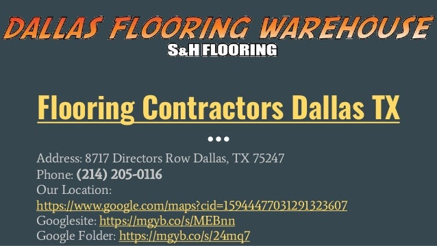 Flooring Contractors Dallas TX Address: 8717 Directors Row Dallas, TX 75247 Phone: (214) 205-0116 Our Location: https://ww...