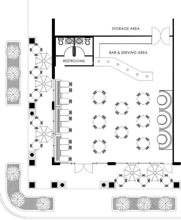 Cafe Shop Space Planning