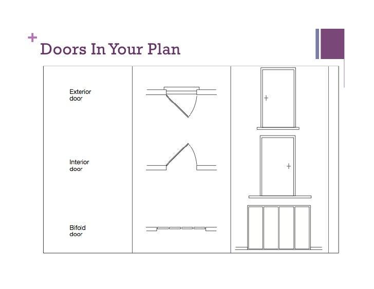 Floor plans for Sliding glass doors in plan