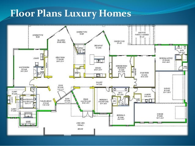 floor plans luxury homes - Luxury Floor Plans