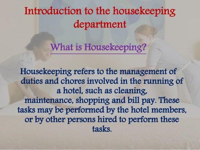 Job Description – Housekeeping Job Description