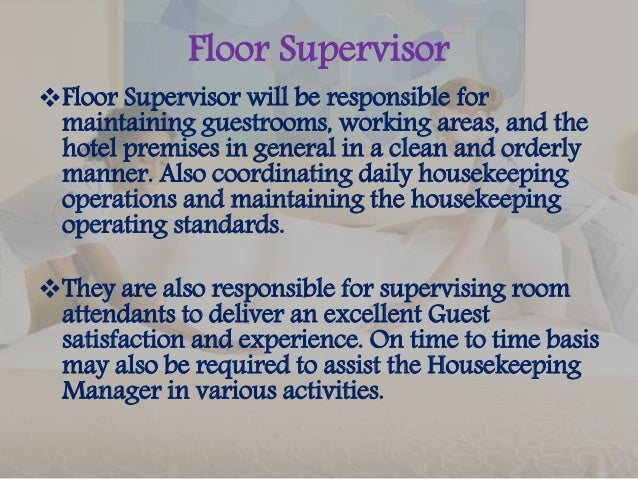 Nice Floor Supervisor ...