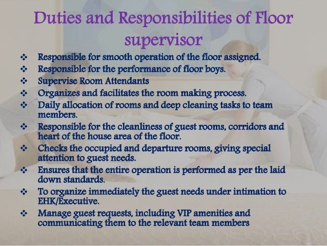 Job description for Floor description