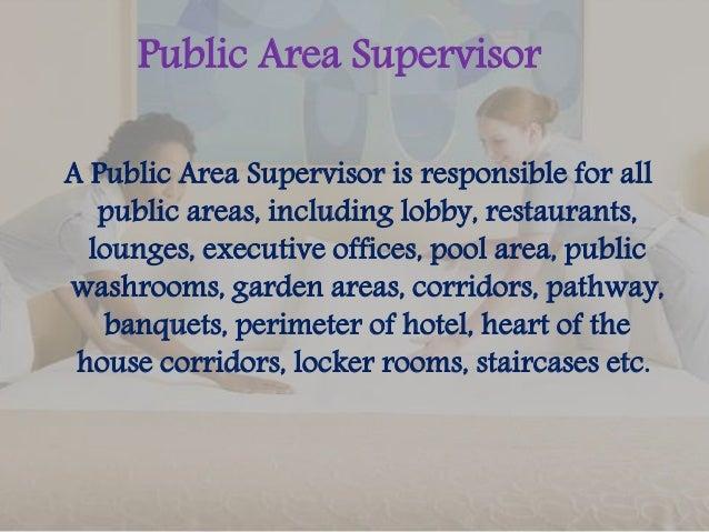 7. Public Area Supervisor ...