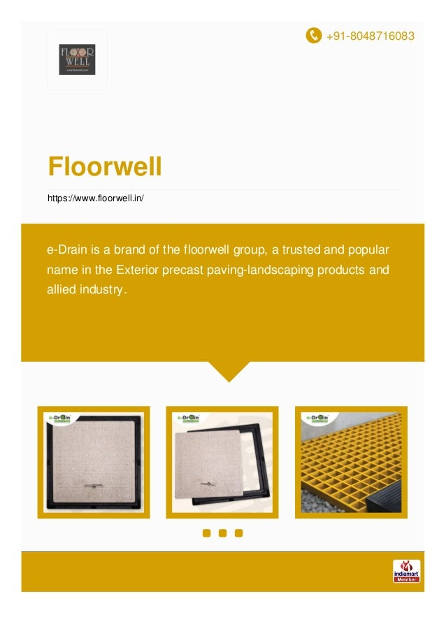 +91-8048716083 Floorwell https://www.floorwell.in/ e-Drain is a brand of the floorwell group, a trusted and popular name i...