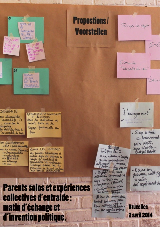 La session de travail organisée le 2 avril  2014 a marqué une étape dans la recherche-action  collaborative «Monoparentali...