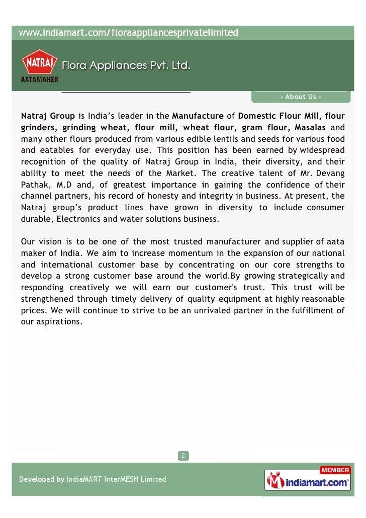 Flora Appliances Private Limited, New Delhi, Aata Maker Swift Slide 2