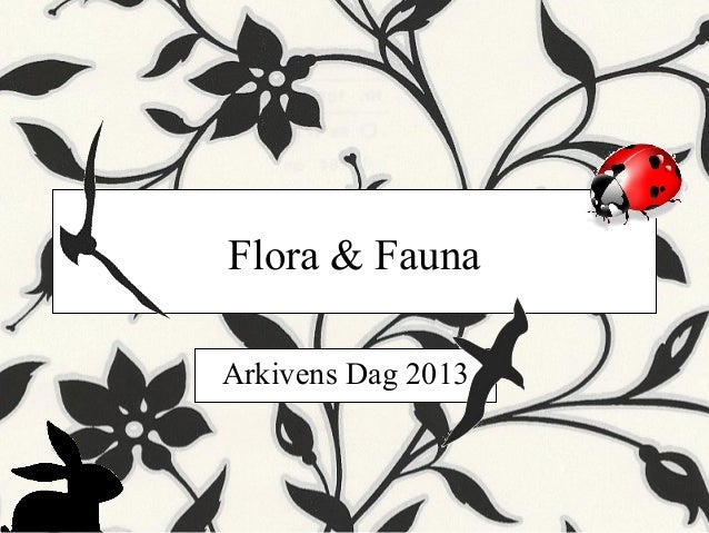Flora & Fauna Arkivens Dag 2013