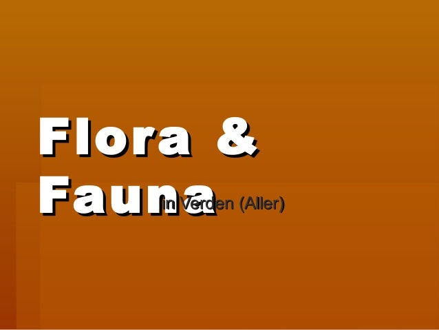 Flora &Flor aFauna   in Verden (Aller)