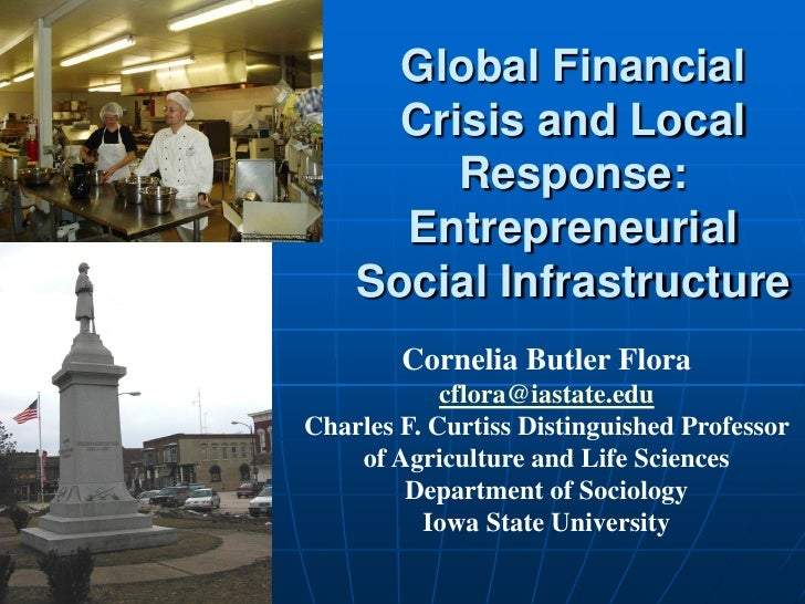 Global Financial       Crisis and Local          Response:       Entrepreneurial     Social Infrastructure         Corneli...
