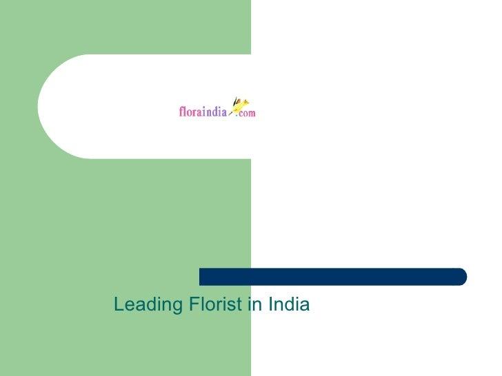 Leading Florist in India