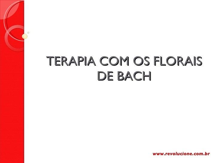 TERAPIA COM OS FLORAIS DE BACH www.revolucione.com.br