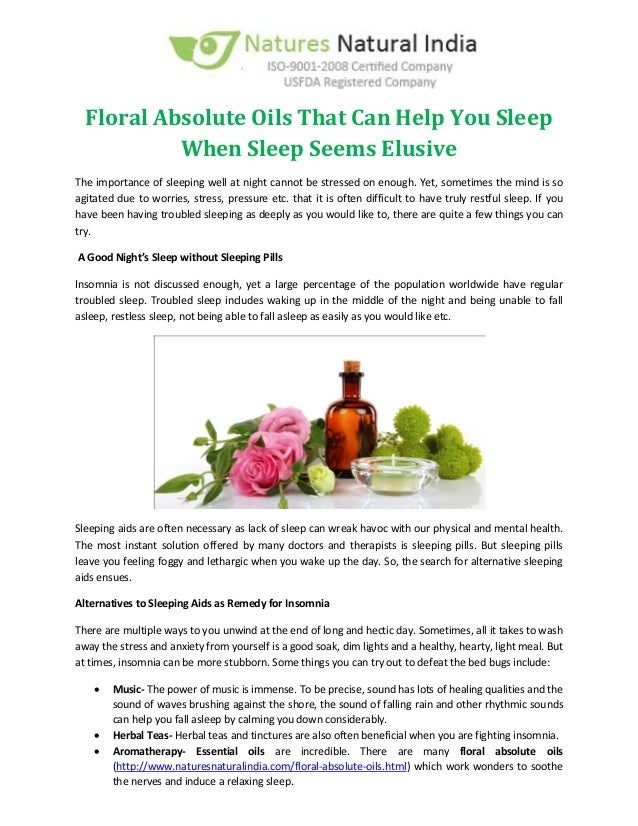 how often sleep aid oil