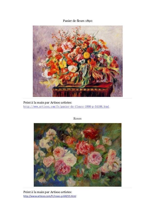 Panier de fleurs 1890  Peint à main par Artisoo artistes: la http://www.artisoo.com/fr/panier-de-fleurs-1890-p-54106.html ...