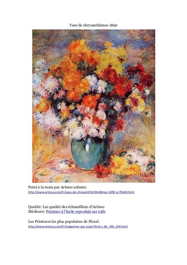 Vase de chrysanthè mes 1890  Peint à main par Artisoo artistes: la http://www.artisoo.com/fr/vase-de-chrysanth%C3%A8mes-18...