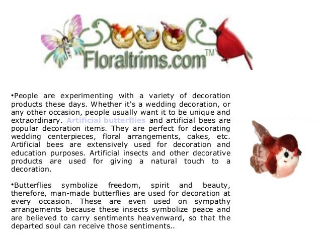 Floraltrims Stocks Artificial Butterflies And Other Decoration Supplies 2