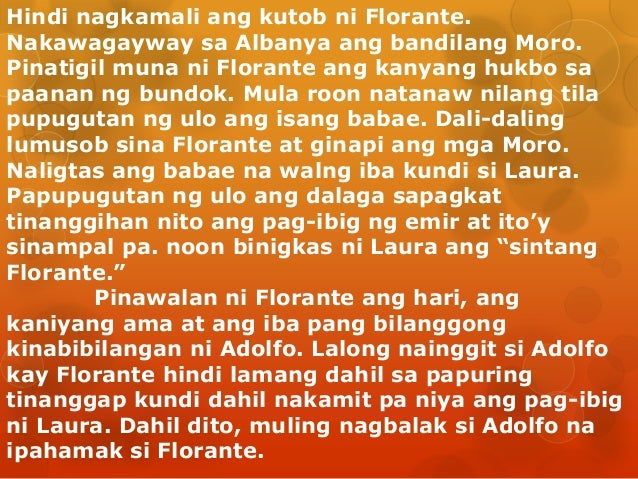 gaano kahalaga sa iyo ang pag aaral ng florante at laura Buod ng florante at laura   florante at-laura kung pagsaulan kong basahin sa isip ang nangakaraang araw ng pag-ibig may mahahagilap.