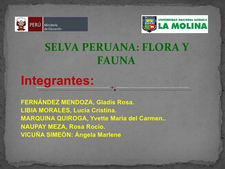 Integrantes: FERNÁNDEZ MENDOZA, Gladis Rosa. LIBIA MORALES, Lucía Cristina. MARQUINA QUIROGA, Yvette María del Carmen.. NA...