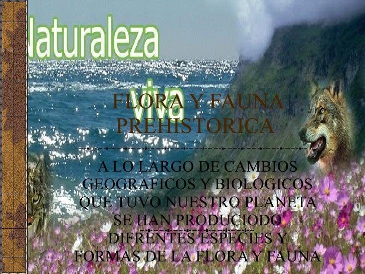 FLORA Y FAUNA PREHISTORICA  A LO LARGO DE CAMBIOS GEOGRAFICOS Y BIOLOGICOS QUE TUVO NUESTRO PLANETA SE HAN PRODUCIODO DIFR...