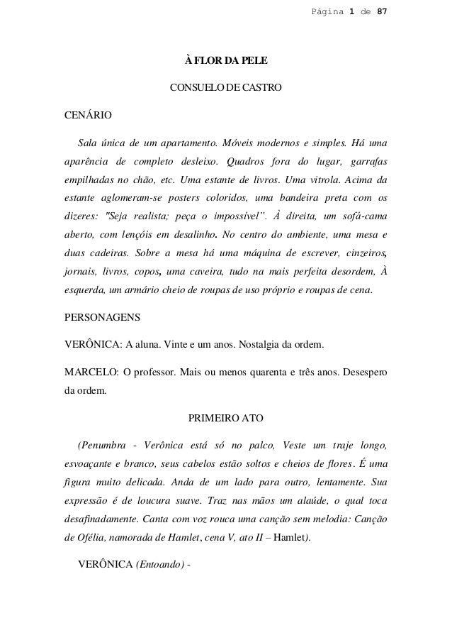 Página 1 de 87                           À FLOR DA PELE                        CONSUELO DE CASTROCENÁRIO   Sala única de u...