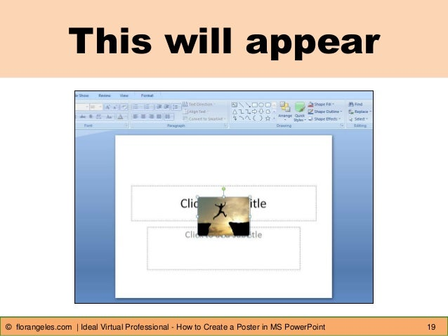 create poster in powerpoint
