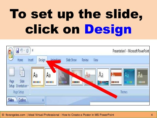 make a poster in powerpoint